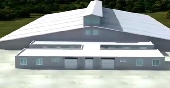 养猪实用设计!余式猪场——猪场建设3D原理视频