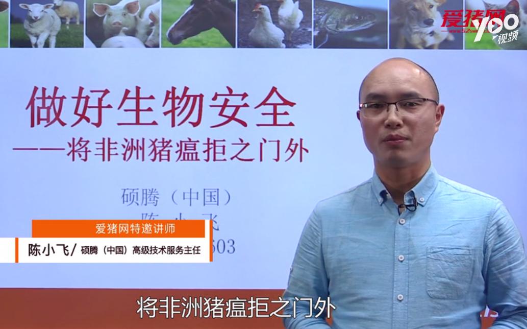 """陈小飞:非洲猪瘟下猪场生物安全是""""100-1=0"""""""