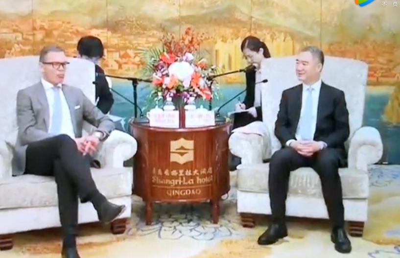 山东省委常委、青岛市委书记王清宪先生会见VIV全球主办方集团领导一行