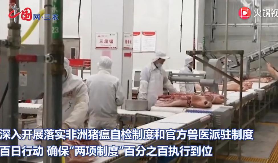 """农业农村部:确保生猪屠宰环节""""两项制度""""百分之百执行到位"""