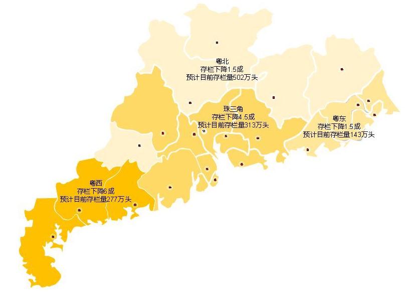 集中抛售出栏,广东省内生猪存栏下降,猪价将大幅上涨
