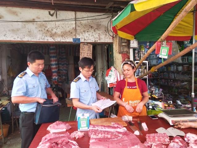 崇左市江州区强化非洲猪瘟防控工作 确保百姓吃上放心猪肉