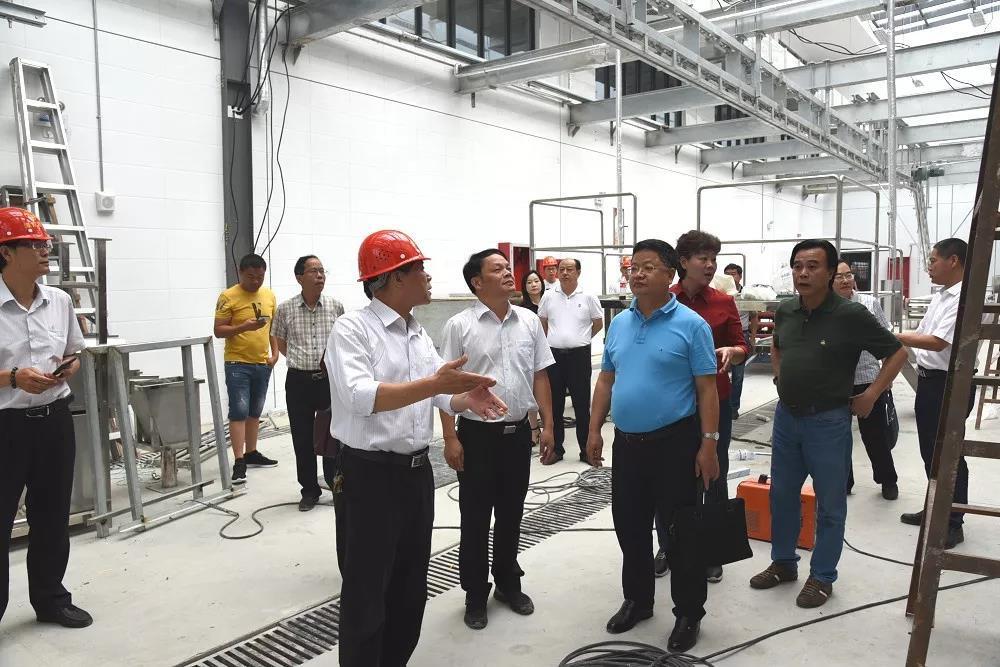 漳州市市监局调研生猪屠宰厂项目建设