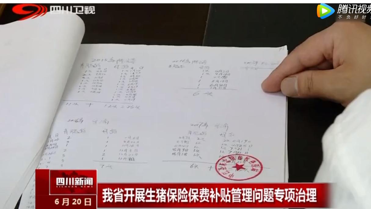 四川省开展生猪保险保费补贴管理问题专项治理