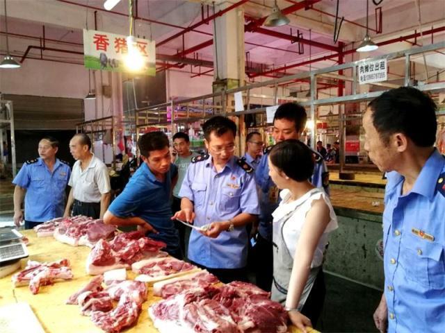 贵州三都县加强上市猪肉监管 确保市民吃上放心猪肉