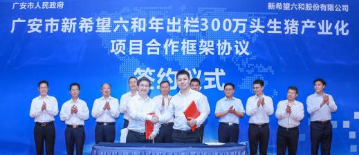 新希望年出栏300万头生猪产业基地落户广安,投资约60亿元!