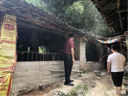 高州长坡镇依法拆除违规养猪场,清拆猪舍面积约1000平方米!