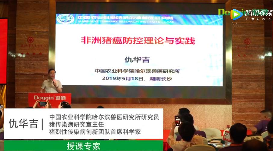 非洲猪瘟天网防控高峰论坛仇华吉研究员讲课