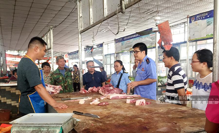 广西环江查获100斤未经检疫猪肉,进行无害化销毁处理
