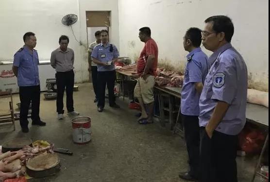 广西南宁:多部门联合行动严厉打击私屠滥宰
