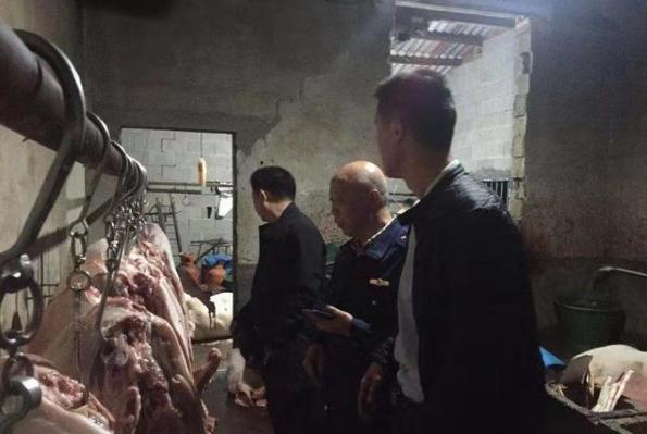 长沙捣毁一非法屠宰黑窝点 现场查获4410公斤猪肉产品