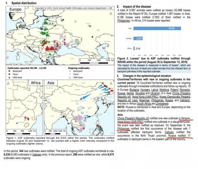 中国非瘟疫情