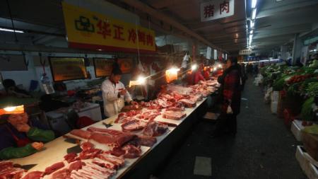 2019年第46周瘦肉型白条猪肉出厂价格监测 周平均价格每公斤46.11元