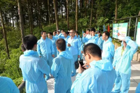 广东、广西、河南等地规模猪场参观亚计山猪场