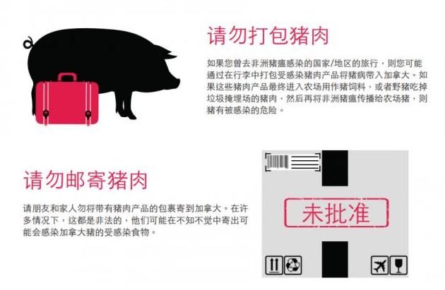"""加拿大主流媒体登中文广告""""请勿打包猪肉"""""""