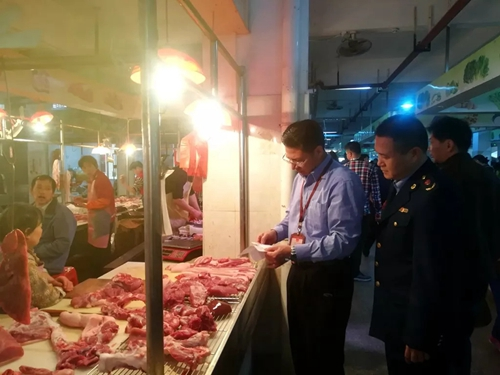 广东韶关市场监管部门进行专项整治 保障辖区猪肉产品质量安全