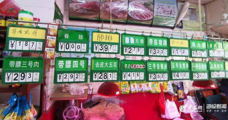 山东猪肉价格又降了!全省均价25.93元/斤