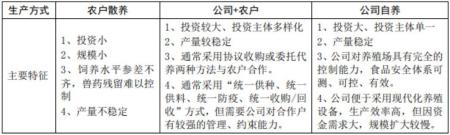 """我国生猪规模养殖的主要模式特点:""""公司+农户代养""""、""""自繁自养"""""""