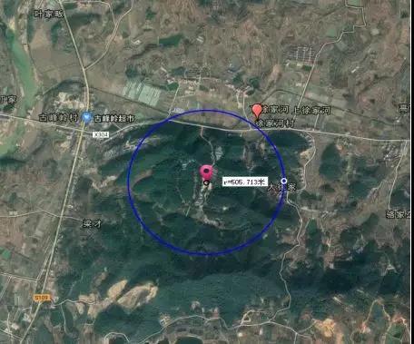 地块选址卫星定位图