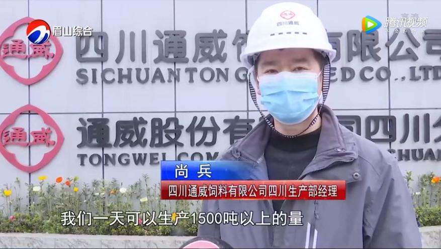 《眉山新闻联播》报道四川通威复产情况