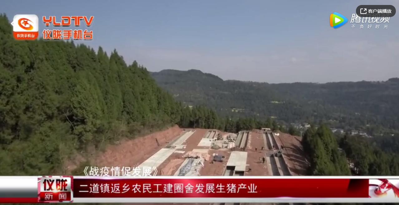 二道镇返乡农民工建圈舍发展生猪产业