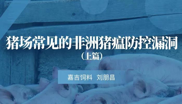刘朋昌:猪场常见的非洲猪瘟防控漏洞(上)
