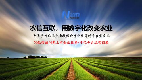 农信互联副总裁王柯:农业产业大数据的思考与实践