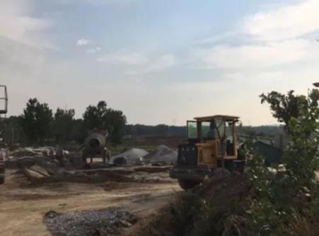 安皋牧原场区升级改造施工现场