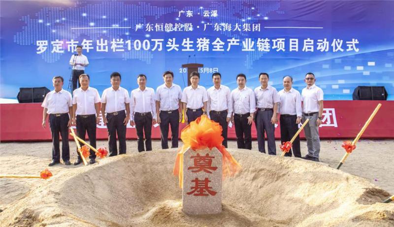 恒健控股公司积极助力广东生猪生产 推动生猪全产业链项目落地云浮罗定