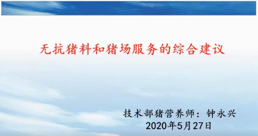 钟永兴、管武太:无抗猪料与猪场服务的综合建议