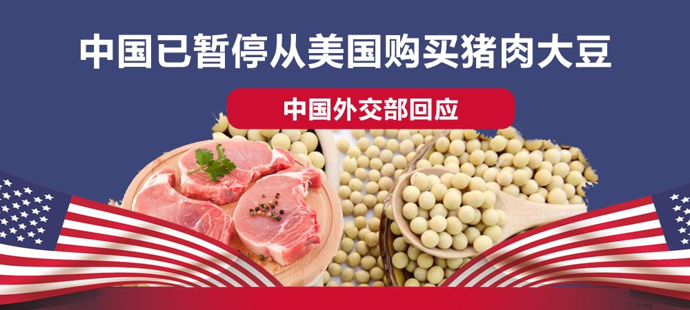 中国不买美国大豆、猪肉?外交部发言人赵立坚回应
