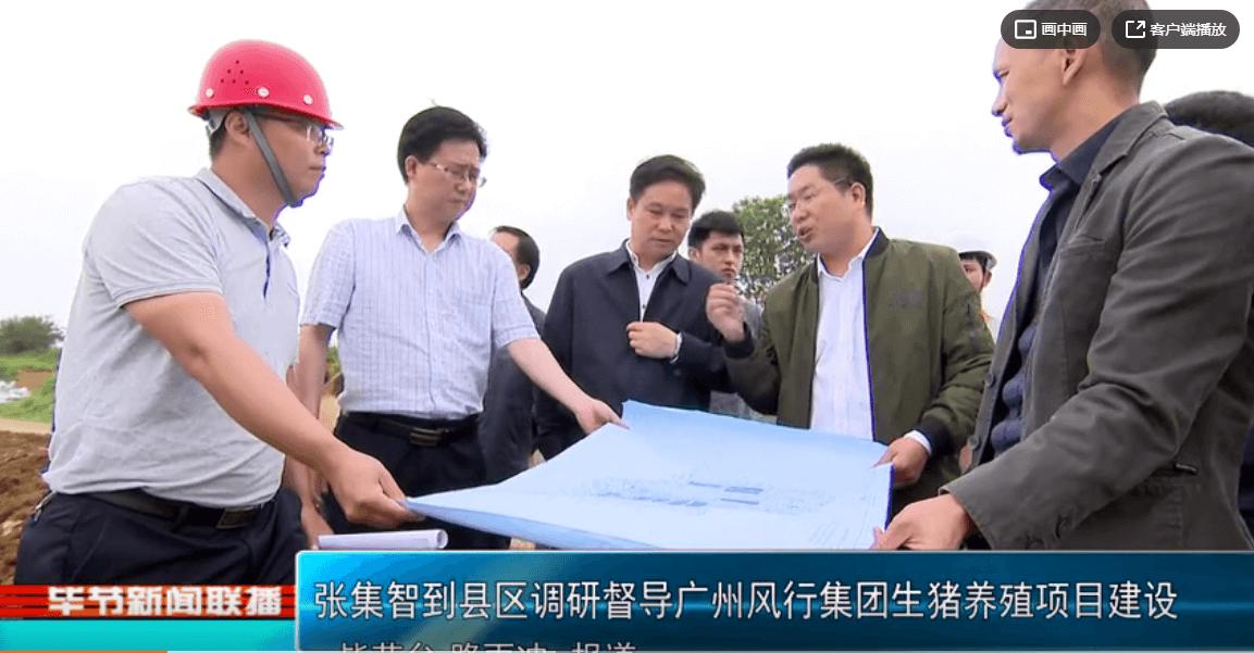 张集智到县区调研督导广州风行集团生猪养殖项目建设