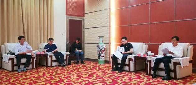 唐人神集团总裁陶业来武山考察对接生猪绿色养殖全产业链项目建设工作