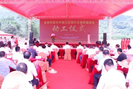 金新农总投资12亿养猪项目落户曲江,全面建成后年出栏生猪达 60 万头