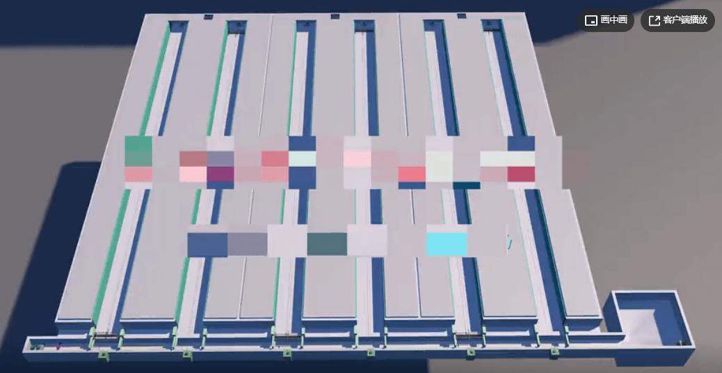 规模化养猪场的粪便清理,自动化联控清粪3d演示