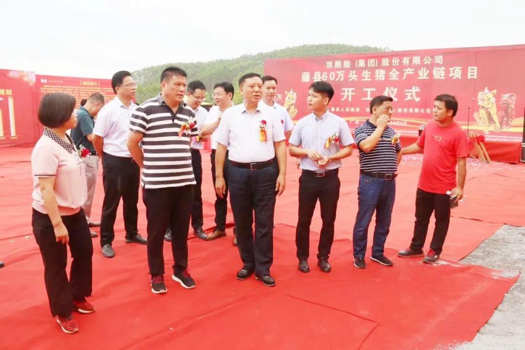 双胞胎藤县年出栏60万头生猪产业链项目正式开工