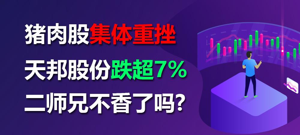 猪肉股集体重挫:天邦股份跌超7% 二师兄不香了吗?