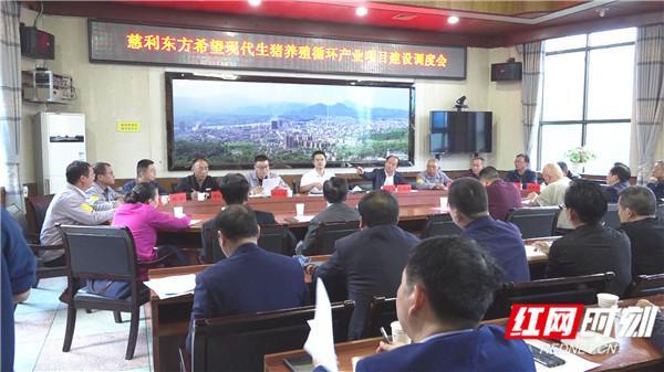 慈利东方希望畜牧有限公司现代化生猪养殖循环产业建设项目调度会召开