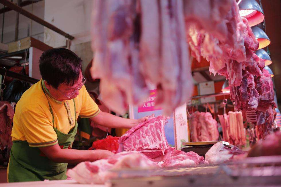 六盘水市钟山区建成25个销售点为市民提供平价猪肉