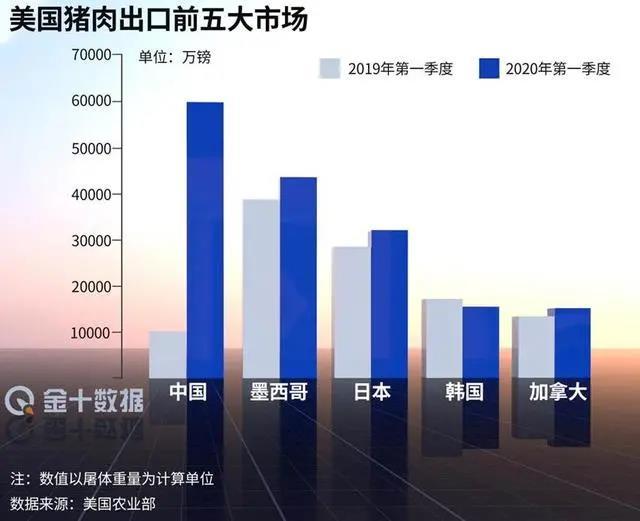 美国猪肉出口大涨154%,中国爆买37700吨!为何要大量进口美肉?