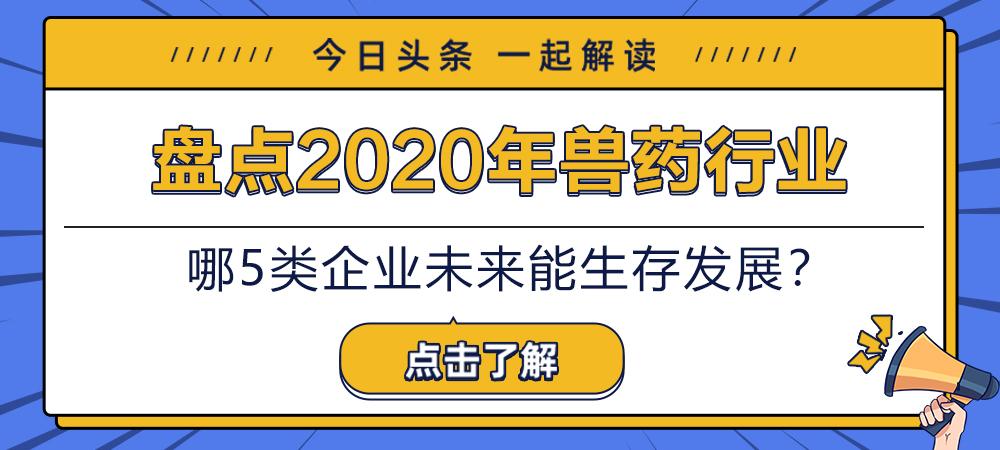 盘点2020年兽药行业!哪5类企业未来能生存发展?