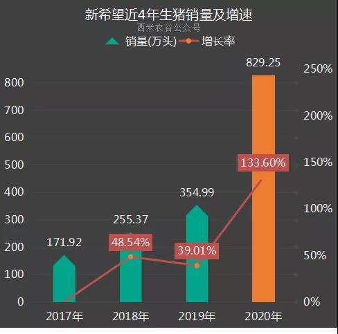 新希望2020年养猪数据:为完成全年KPI,12月仔猪销售比例有较大幅度提升