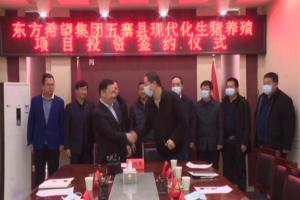 山西忻州五寨县与东方希望集团现代化生猪养殖项目举行投资签约仪式