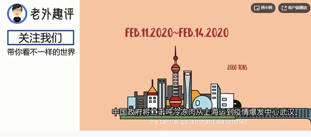 老外看中国疫情期间如何将15万吨储备肉投放市场,中国人很有远见