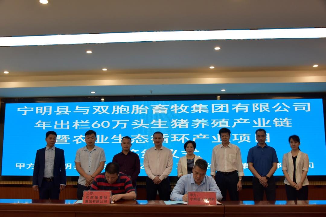 双胞胎集团宁明县年出栏60万头生猪产业链项目成功签约