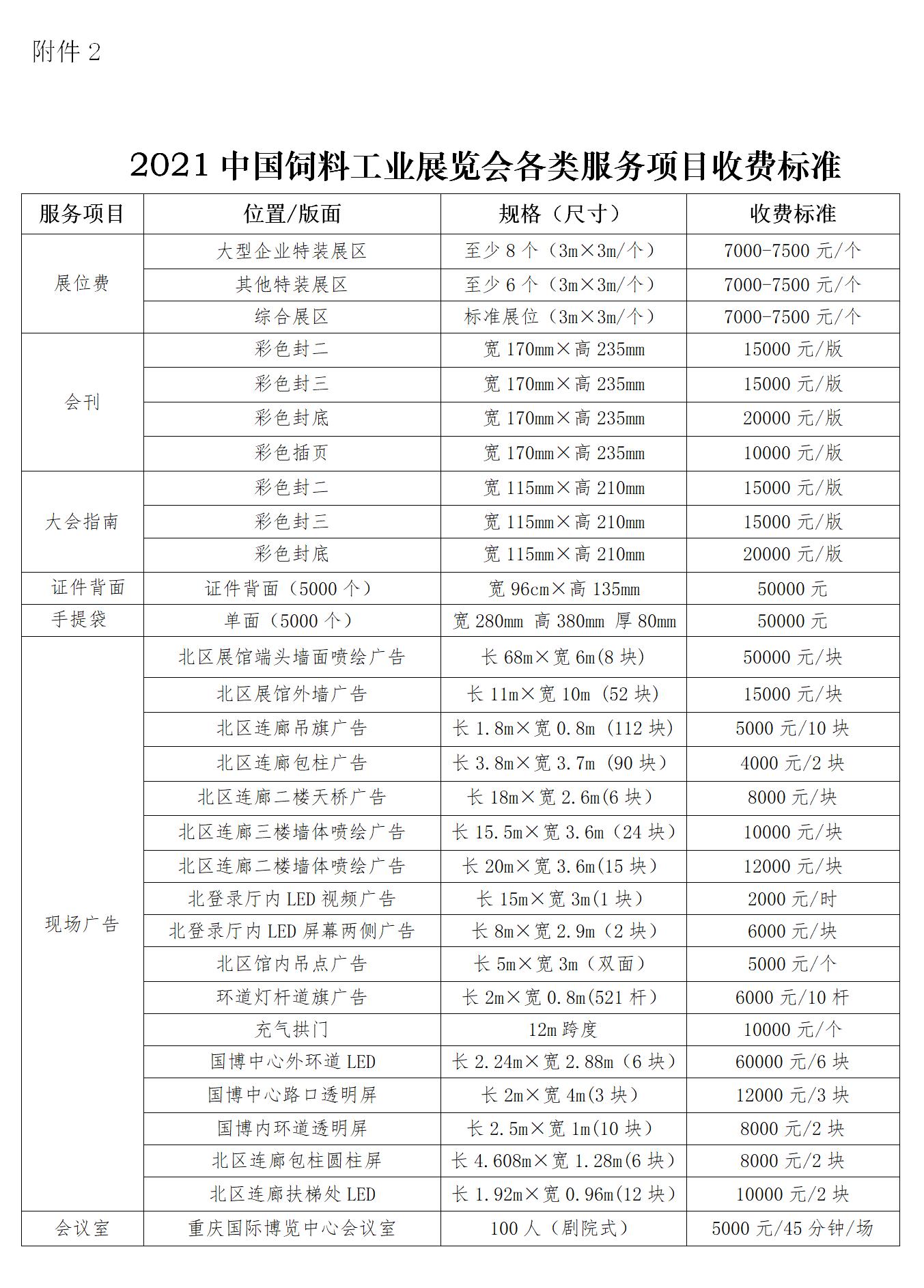 关于举办2021中国饲料工业展览会的通知