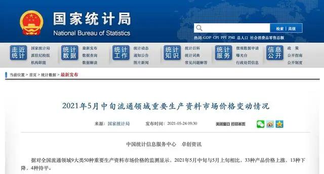 国家统计局:5月中旬生猪价格仅为18.5元/公斤,环比下跌8%