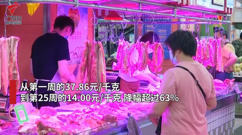 广州猪肉价格接连下跌至20多元,专家:7月初猪价会止跌起稳!